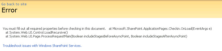 Turn on detailed error messages in SharePoint 2007 /2010 (4/4)