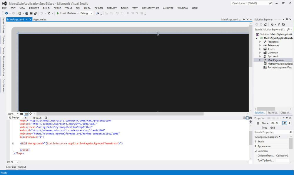 Getting started with Windows 8 Metro Style Application using C#  - Visual Studio 2012 (6/6)